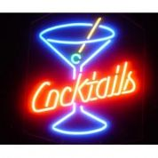 Cocktails Glass Neon Sign